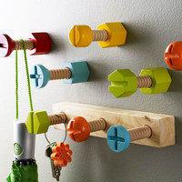 Whimsical Hardware Hooks - Set of 5