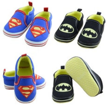 Infant Toddler Hero Boy Girl Sneaker Soft Baby Shoes Superman Batman [7687486534]