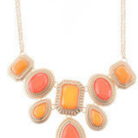 Coral Jewel Statement Necklace â?? Modeets
