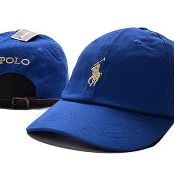 Blue POLO Embroidered Baseball embroidered cap Hat