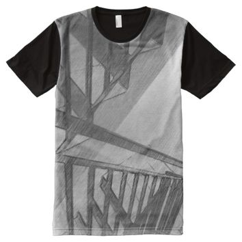 Stair drawing All-Over-Print T-Shirt