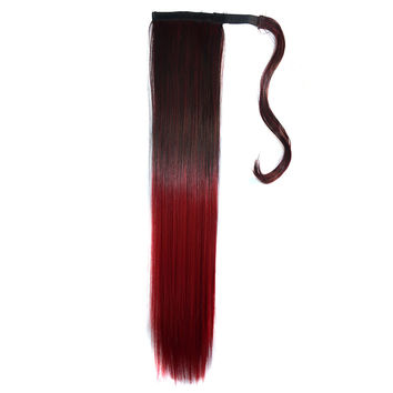 Magic Tape Gradient Ramp Colorful Wig    MST black to wine red