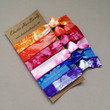 6 Tie Dyed Hair Ties - The Sally Collection by Elastic Hair Bandz