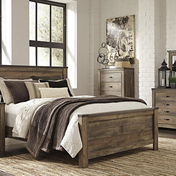 Ramada Plank Queen Size Panel Bed