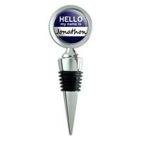 Jonathon Hello My Name Is Wine Bottle Stopper