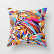 Shock Throw Pillow by Danny Ivan
