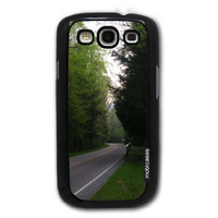 Great Smoky Mountains National Park - Protective Designer BLACK Case - Fits Samsung Galaxy S3 SIII i9300