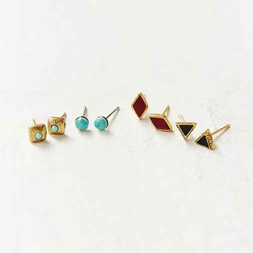 Western Stone Post Earring Set- Assorted One