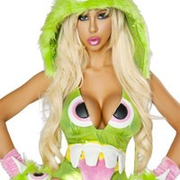 Green One Eyed Monster Hood @  Amiclubwear costume Online Store,sexy costume,women's costume,christmas costumes,adult christmas costumes,santa claus costumes,fancy dress costumes,halloween costumes,halloween costume ideas,pirate costume,dance costume,co