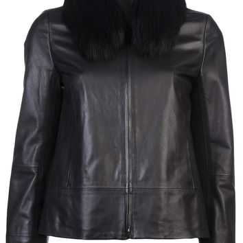 Ar Neck Warmer Leather Jacket