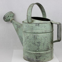 It's Time to Think Spring with this Vintage #10 Galvanized Water Can