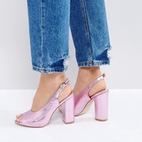 RAID Rai Pink Sling Back Heeled Sandals at asos.com