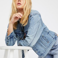 Free People Ex-Boyfriend Trucker Denim Jacket