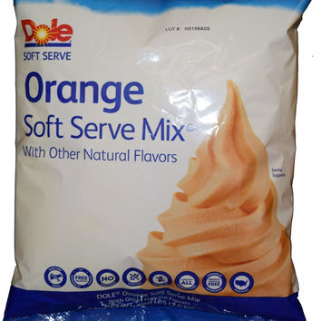 Orange Dole Whip Soft Serve Ice Cream Mix (Large 4.4 Pound Bag) - Authentic D...