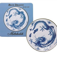 Mottahedeh Blue Dragon Picnic Plates-Set of 4