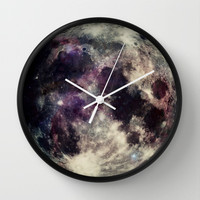 Fly me to the moon Wall Clock by SabineD