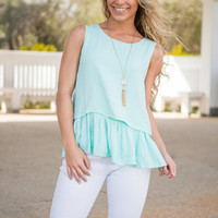 Beauty In Ruffles Top, Mint