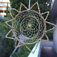 Gold Sun Dream Catcher