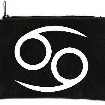 Zodiac Cancer Sign Cosmetic Makeup Bag Pouch Astrology Horoscope The Crab