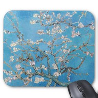 Almond Blossoms Blue Vincent van Gogh Art Painting Mouse Pad