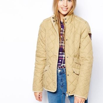 Puffa Quilted Jacket - Gold