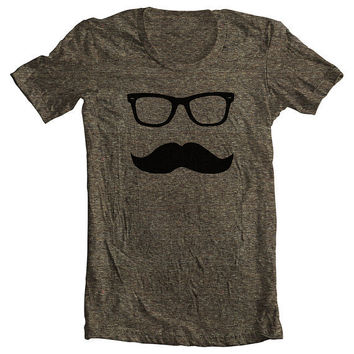 Mustache Wayfarer Men's Women's T shirt by FullSpectrumClothing