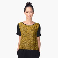 'Damaged gold ' Women's Chiffon Top by steveball