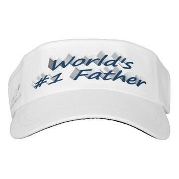 World's #1 Father 3D Visor, Ocean Blue Visor