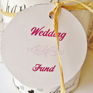 Wedding Fund - Savings Can, Upcycled/Recycled Baby Formula Can, Savings Jar, Piggy Bank