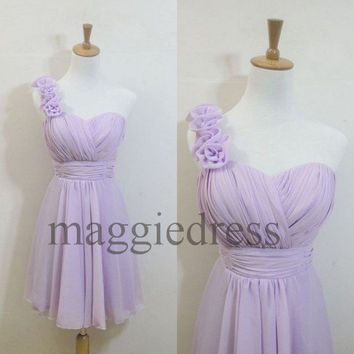 Custom Lavender Short Bridesmaid Dresses 2014 Party Dresses Formal Prom Dress Evening Dresees Wedding Party Dress Homecoming Dresses