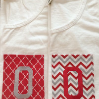 Ohio State Embroidered Pocket Tank or T-Shirt