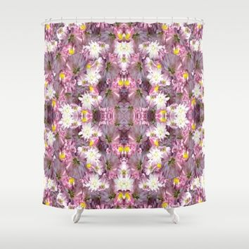 Victorian Mauve Flowers Shower Curtain by Deluxephotos