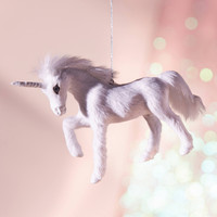 Plush Unicorn Christmas Ornament | Urban Outfitters
