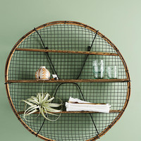Farmhouse Round Shelving Unit
