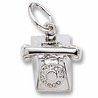 Phone Charm In Sterling Silver