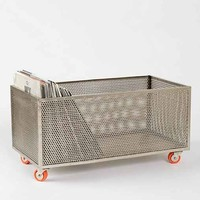 Assembly Home Cutout Rolling Bin- Silver One