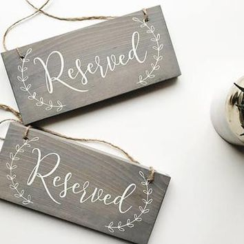 Reserved Signs, Reserved Chair Signs, Wedding