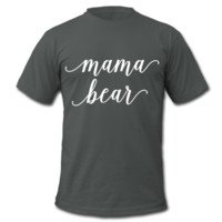 Mama Bear, Pregnancy Reveal Unisex T-Shirt by American Apparel