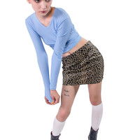 Faux Real Beige Cheetah Mini Skirt