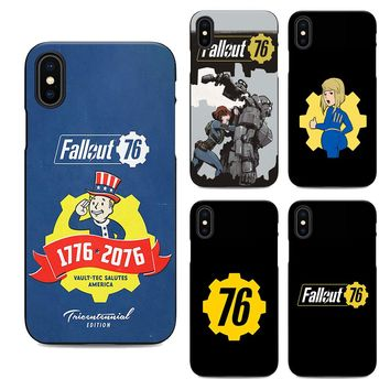 fallout 76 soft Silicone black cover phone case for iPhone XS XR Max 6 7 8 plus 5 5s 6s se for Apple X 10 best design Housing