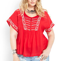 Paradise Found Embroidered Top