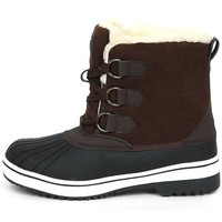 New Trendy Lace Up Shearling Womens Winter Snow Warm Colorful Boots Shoes Brown