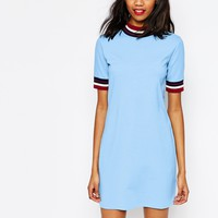 Monki Contrast Striped Dress at asos.com
