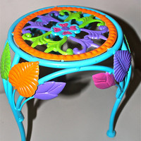 Plant stand colorful blue pink orange lime green by AquaXpressions