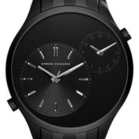 Men's AX Armani Exchange Dual Time Bracelet Watch, 48mm