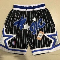 Just Don Orlando Magic Vintage Embroidered Pocket Zipper Basketball Swingman Shorts Black - Best Deal Online