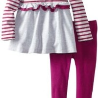 Calvin Klein Little Girls' Stripes Tunic with Leggings, Multi, 2T