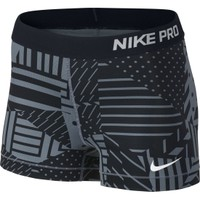 Nike Women's 3'' Pro Patch Work Printed Compression Shorts