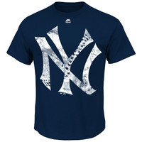 Majestic New York Yankees Cooperstown Collection Rooted in Nostalgia T-Shirt - Navy Blue