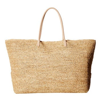 Hat Attack Luxe Tote with Vachetta Handles